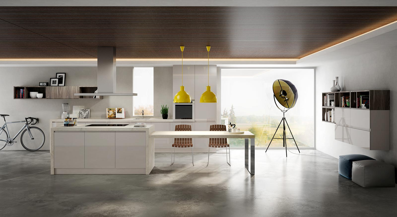Cucine e living k4 internocasa for Cucine living immagini